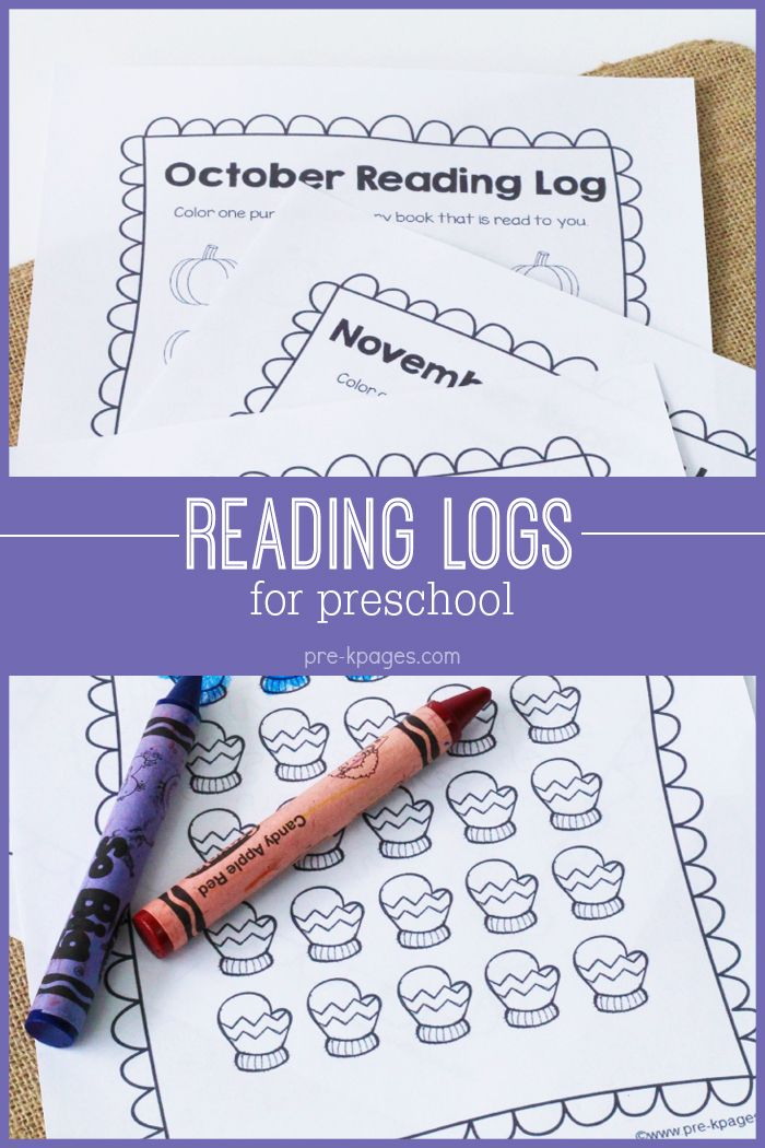 Reading Logs Reading logs and Kindergarten