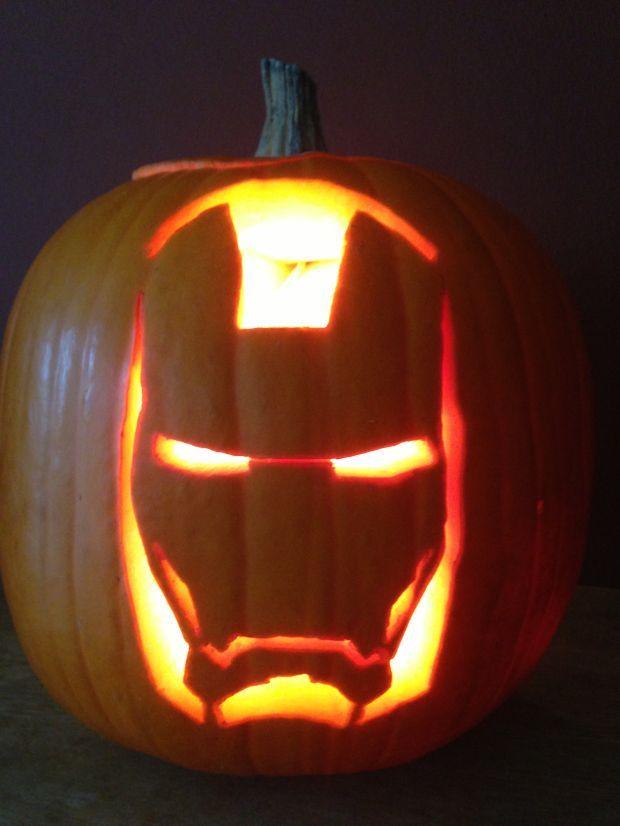 pumpkin carving template iron man  iron man pumpkin - Google Search in 5 | Pumpkin carving ...