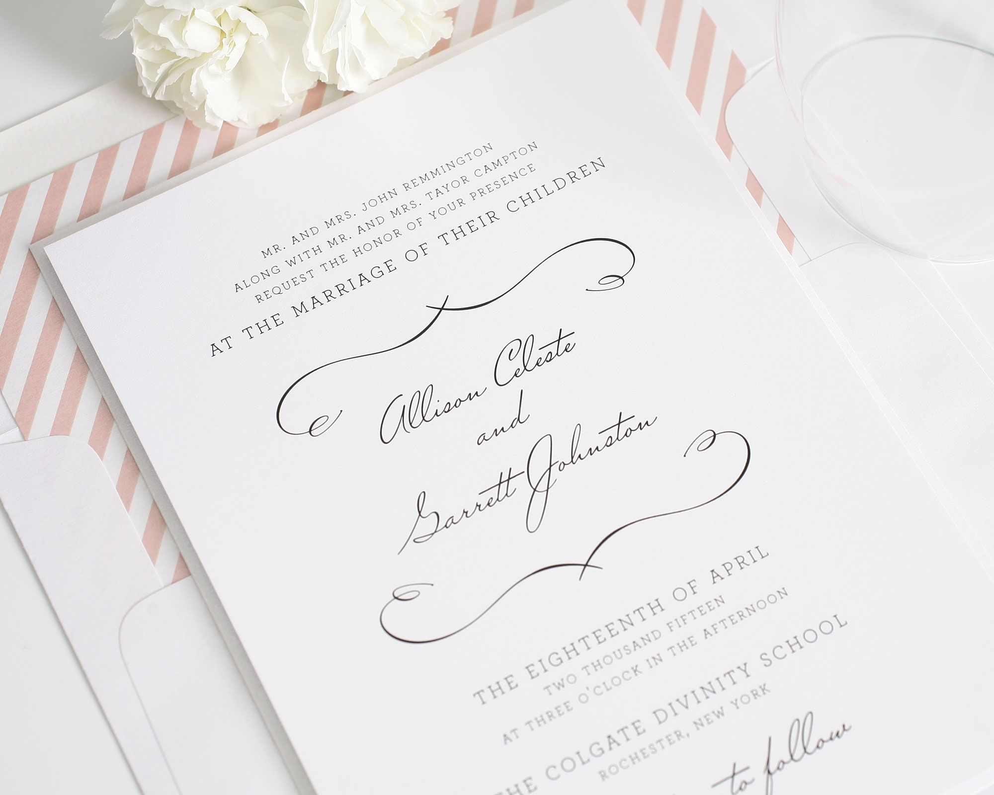french country wedding invitations