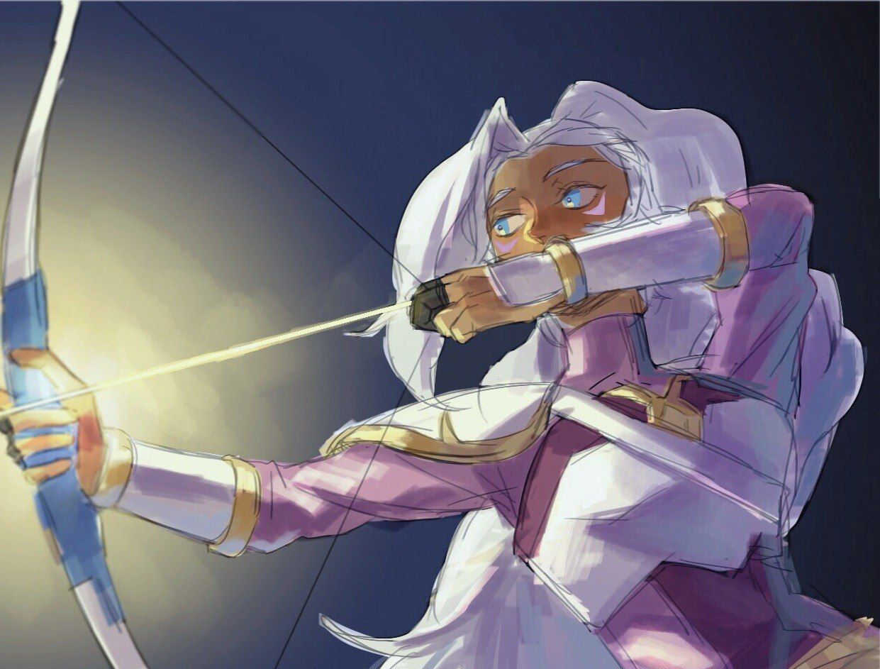 Allura as her Monsters and Mana character, the summoning