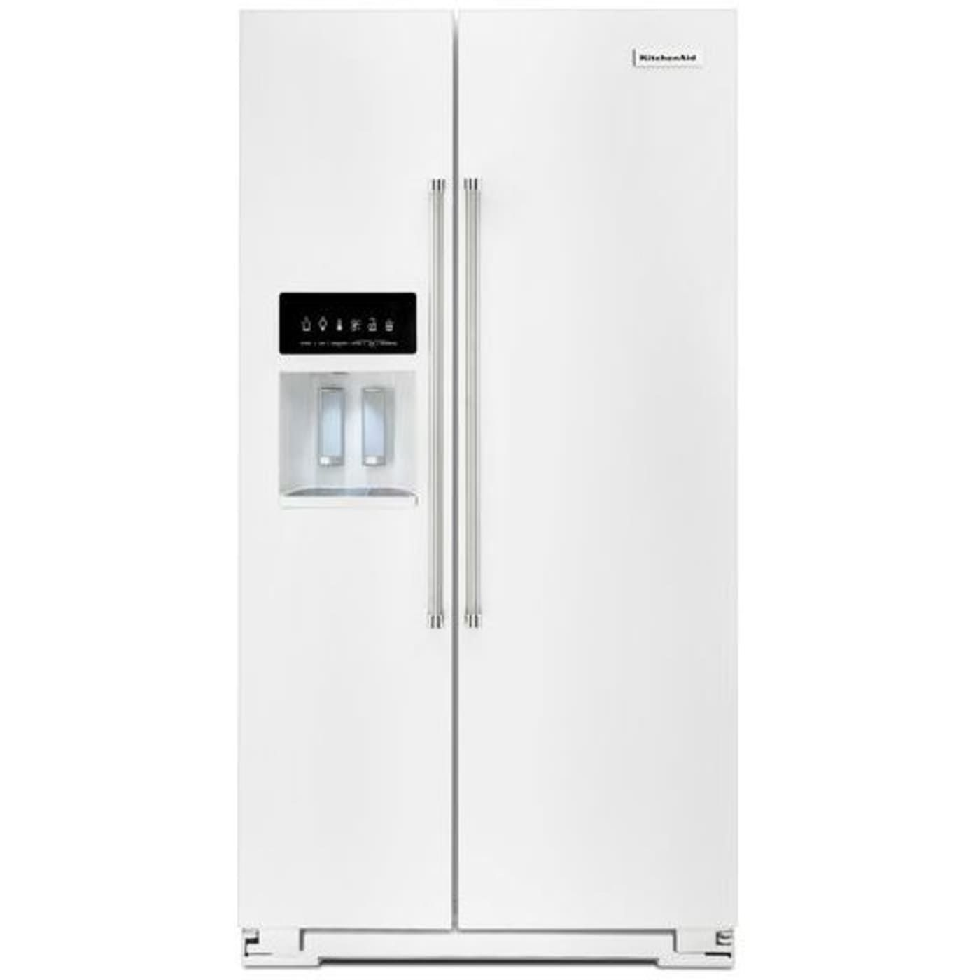 Krsf505ewh by kitchenaid sidebyside refrigerators