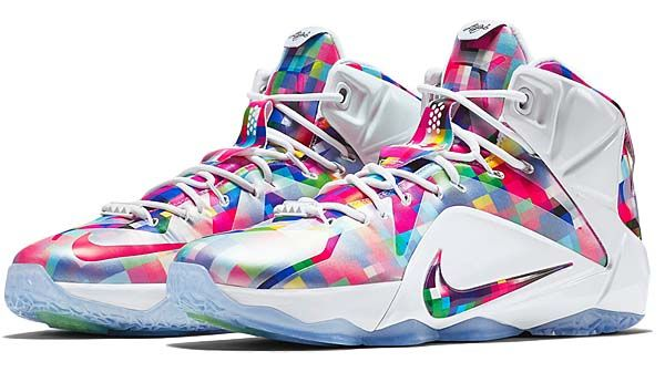 the best attitude 40ae4 fad3d NIKE LEBRON 12 EXT  MULTI-COLOR   UNIVERSITY RED-WHITE  (748861-900)
