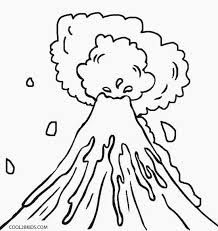 Image Result For Volcano Eruption Drawing Coloring Pages Super