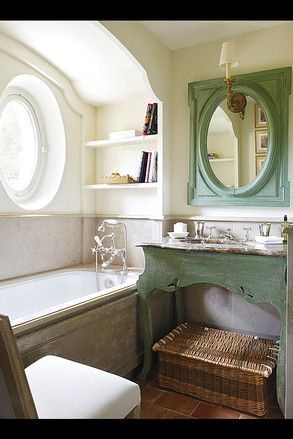 Small bathroom with a lot of charm by Nicky Haslam