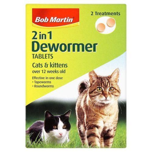 Bob Martin 2 In 1 Dewormer For Cats Kittens Tablets Pack Of 2 Cats Kittens Cats Kittens