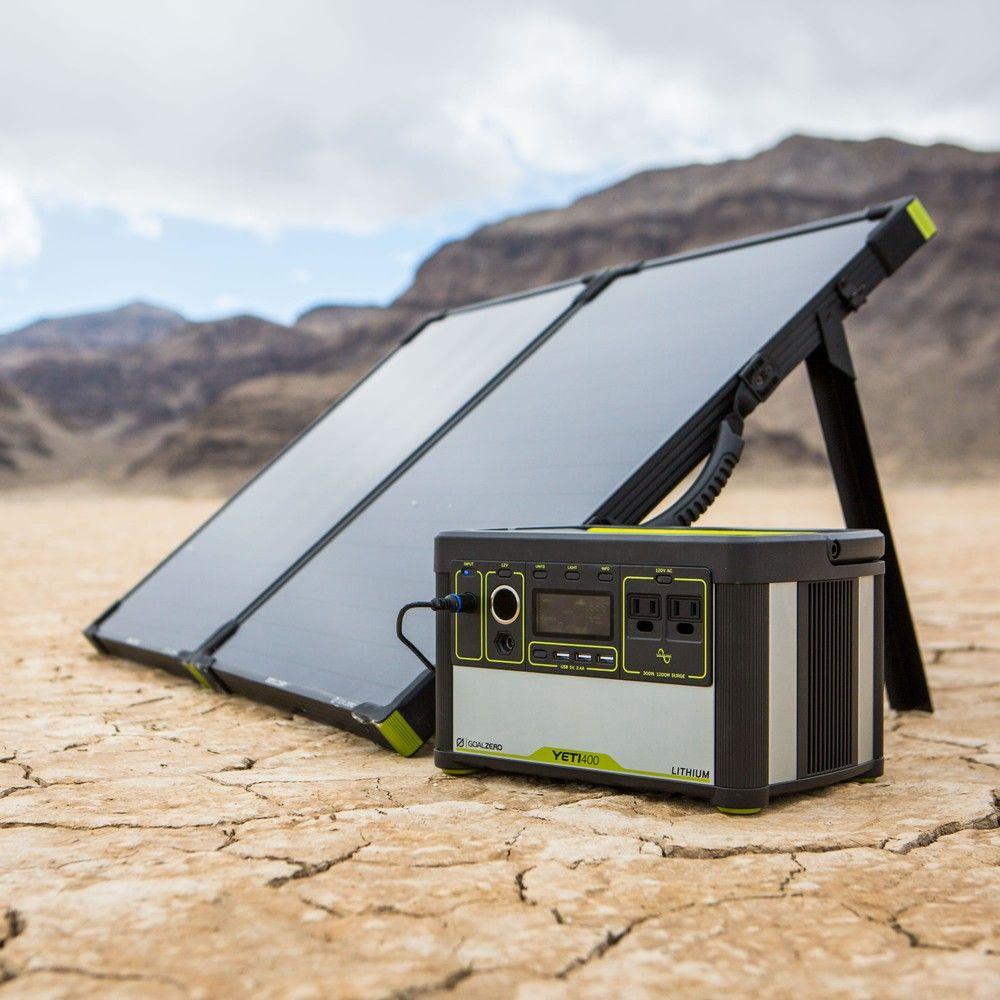 Yeti 400 Lithium Portable Power Station Solar Generator Goal Zero Goal Zero Portable Solar Panels Solar Generator Solar Power