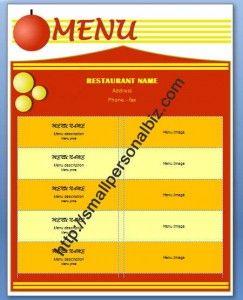 chinese menu template microsoft word