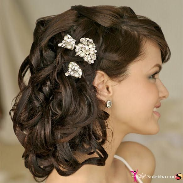Cute Indian Bridal Hairstyles Photo