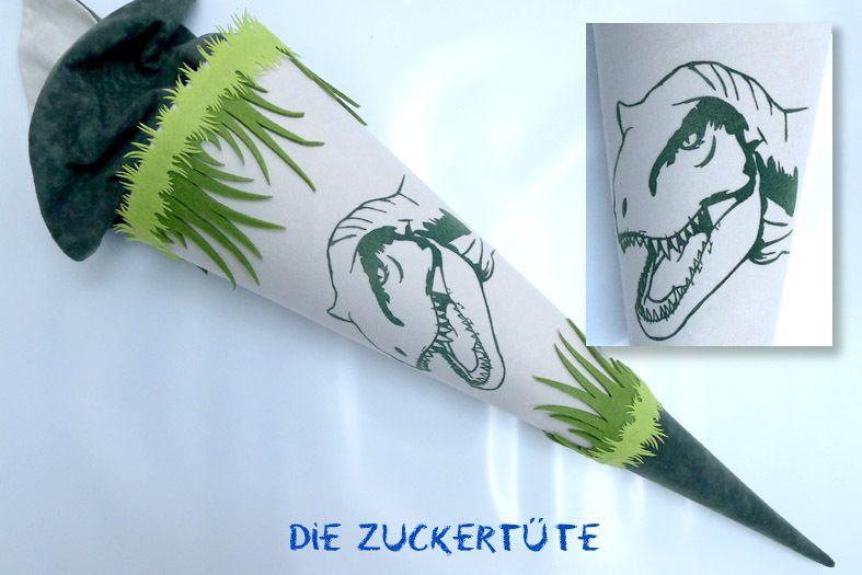 Schultüte+Dino+2.0+Stoff++Zuckertüte+grün+von+Die ...