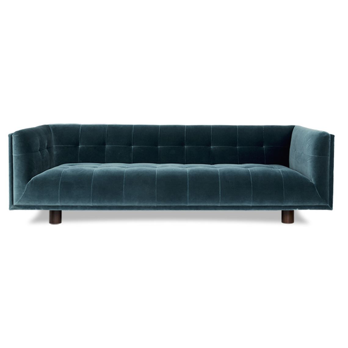 Couch Petrol Keely 3 Seat Velvet Sofa Petrol Products In 2019 Velvet Sofa