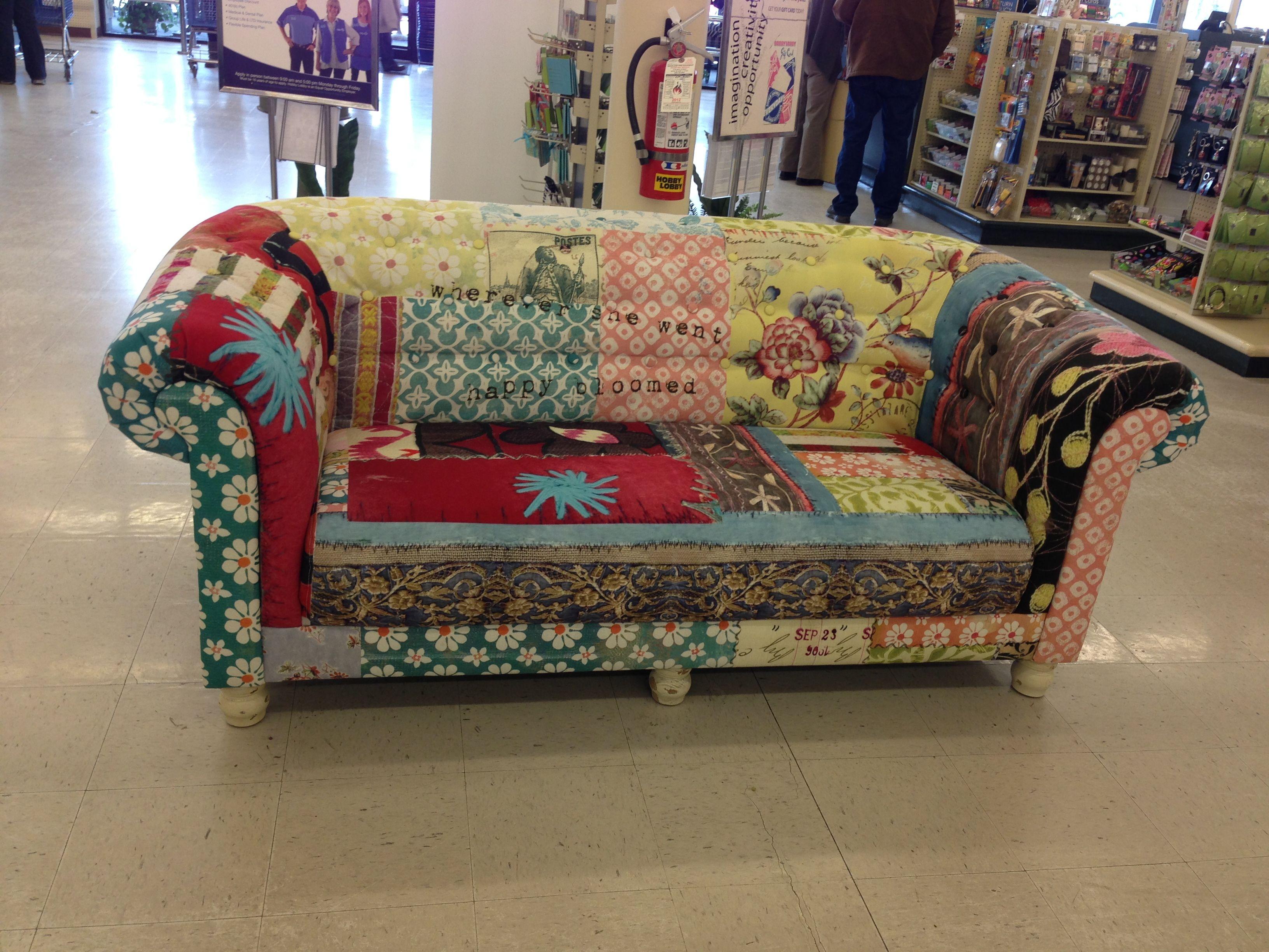 Patchwork sofa Crafty ideas Pinterest