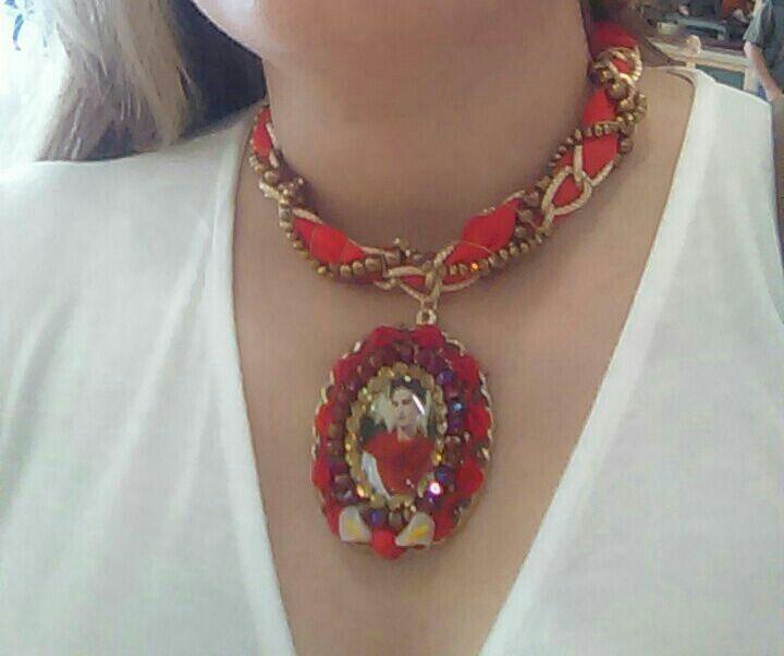 aeb749715773 Gargantillas trenzada de Frida kahlo diseñada por Deseos Divinos  Guadalajara 333 508 55 58