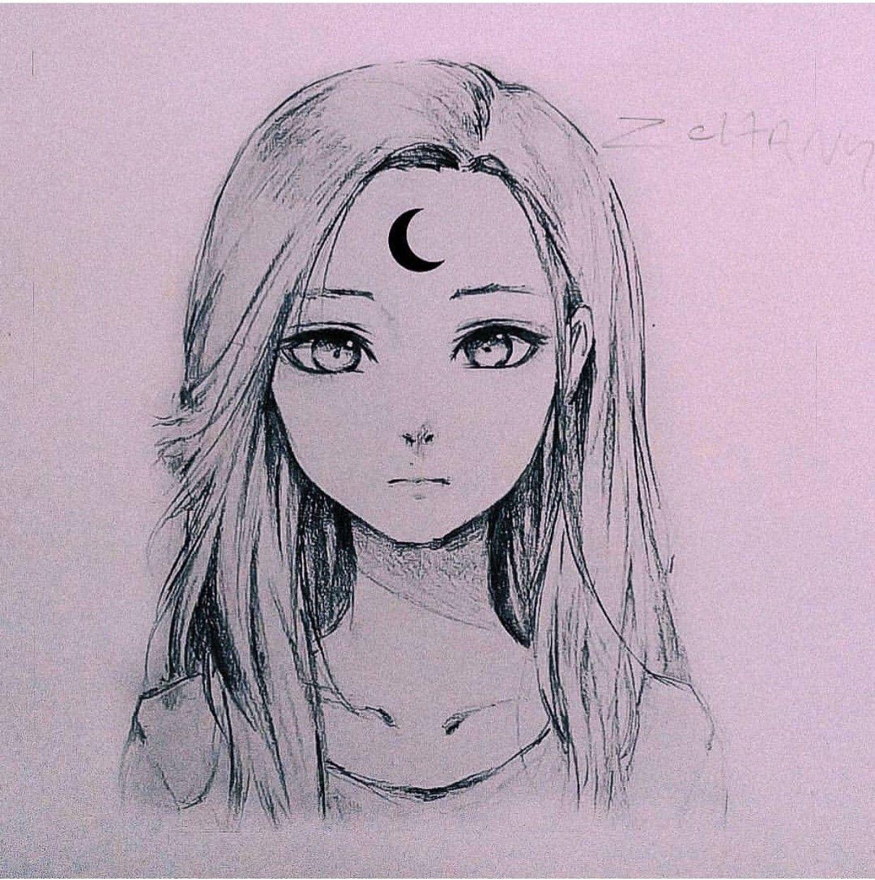 Картинки девушек легкие для срисовки без глаз и рта