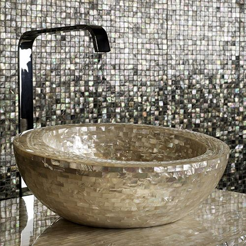 Mother Of Pearl Decor By Antolini Luigi Shellstone Collection New House Ideas Pinterest Pearls And Sinks
