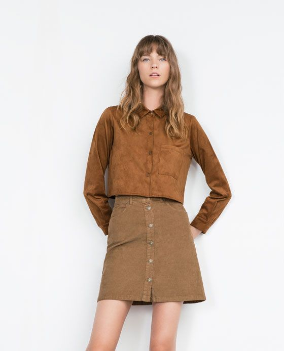 39c0a2ffc4 Image 3 of SHORT CORDUROY SKIRT from Zara | Cool clothes
