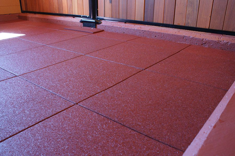 Versatile Rubber Stall Flooring Can Be Used In Horse
