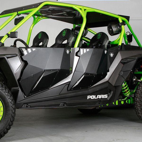 Four Wheeler Turbo Kits : Pro armor rzr xp turbo stealth doors four
