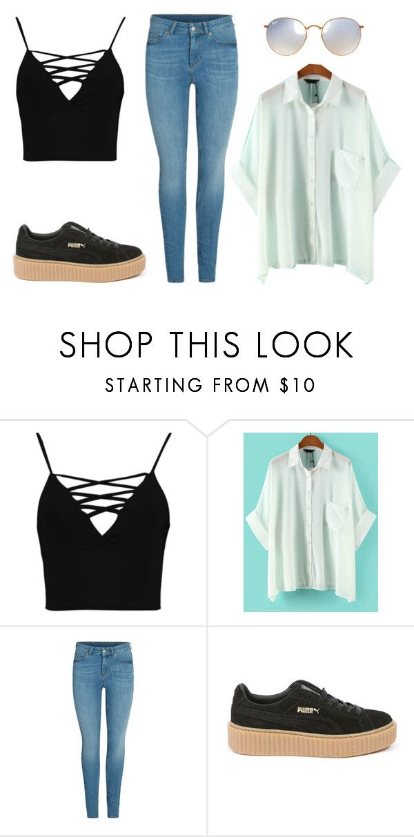 """""""Untitled #123"""" by worldofalicin on Polyvore featuring Boohoo, WithChic, Puma and Ray-Ban"""