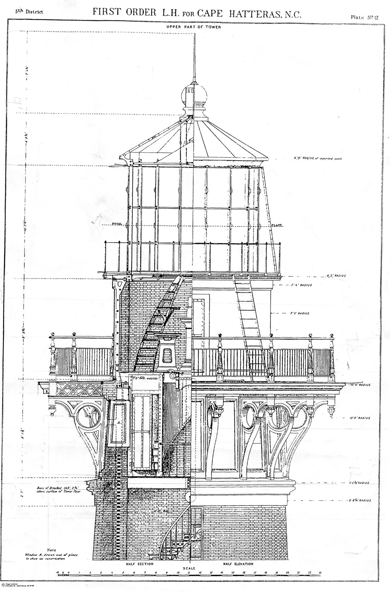Architectural Drawing Lighthouse