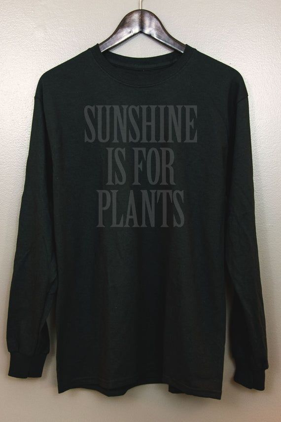 Black on Black Long Sleeve T-Shirt | Gothic Nu goth All Black Everything Emo clothing Soft grunge Murdered out | Sunshine Is For Plants