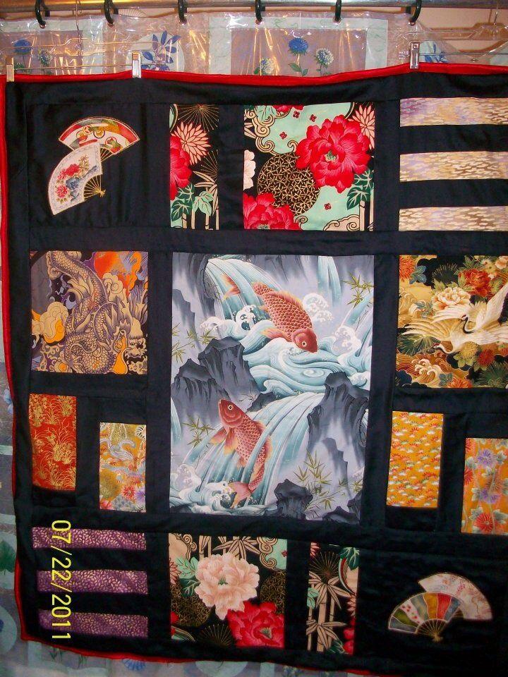 Asian inspired quilt