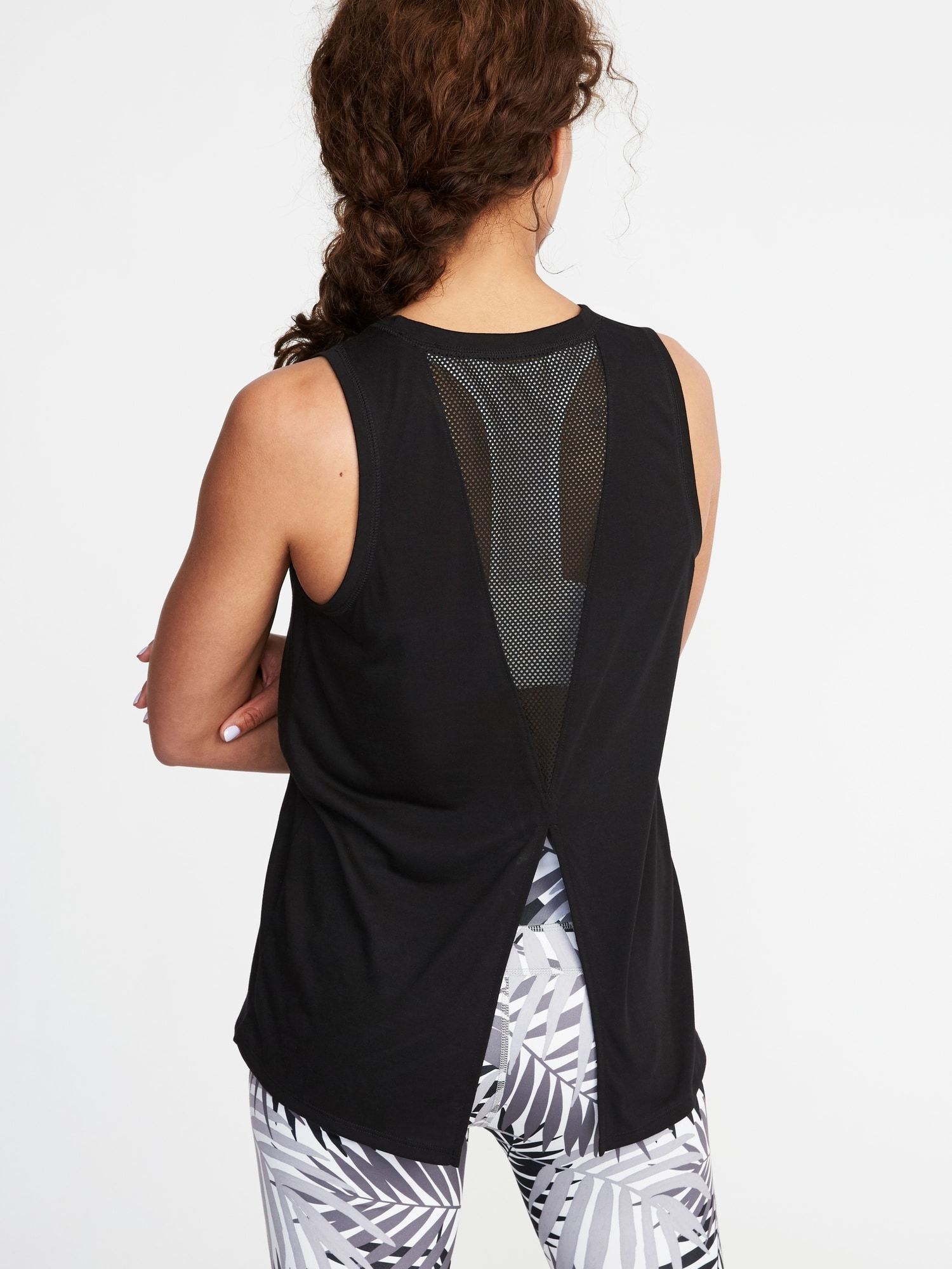7e7908f8a1 Relaxed Mesh-Back Fly-Away Tank for Women | Old Navy | Veni, Vidi ...