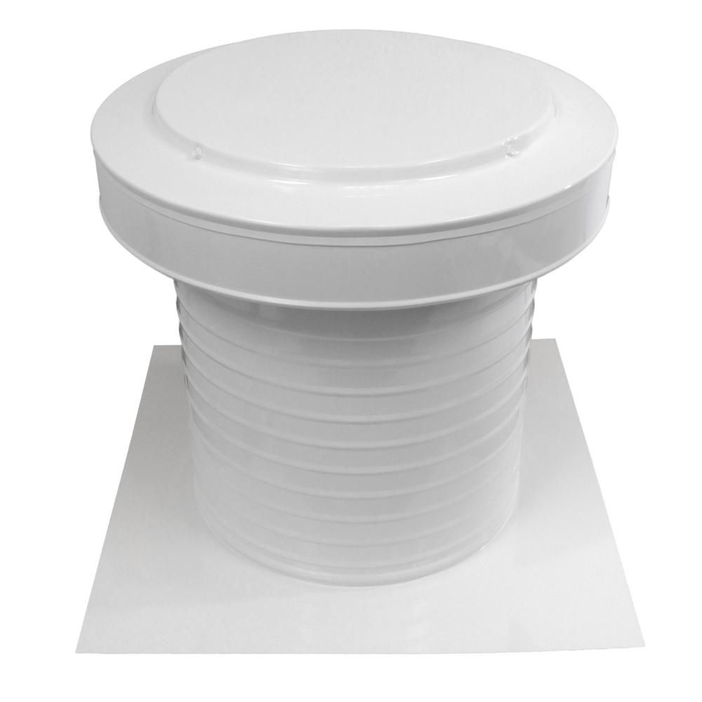 Active Ventilation 12 In Dia Aluminum Keepa Static Vent For Flat Roofs In White Roof Vents Flat Roof Concentric Vent
