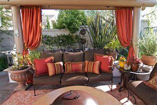 Patio Curtain Idea. Weather Resistant