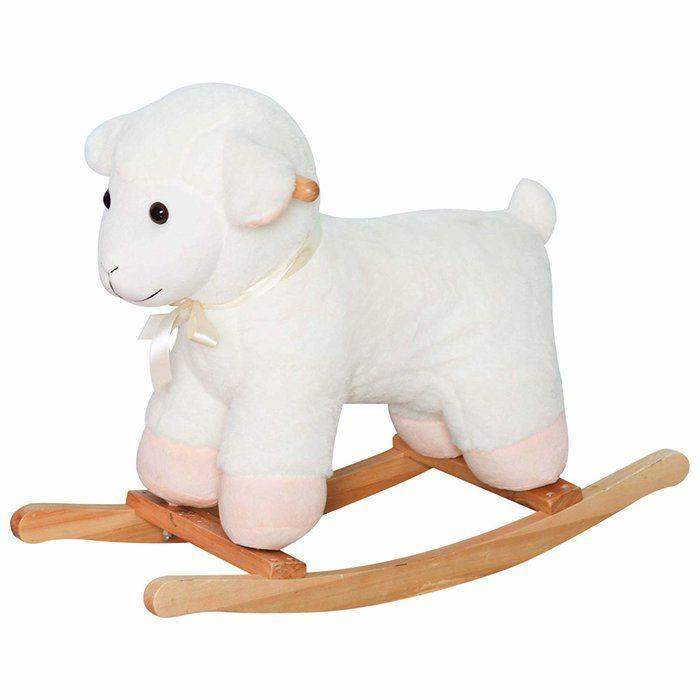 Sensational Kids Playtime Plush Sheep Lamb Toy Ride Rocking Horse Inzonedesignstudio Interior Chair Design Inzonedesignstudiocom