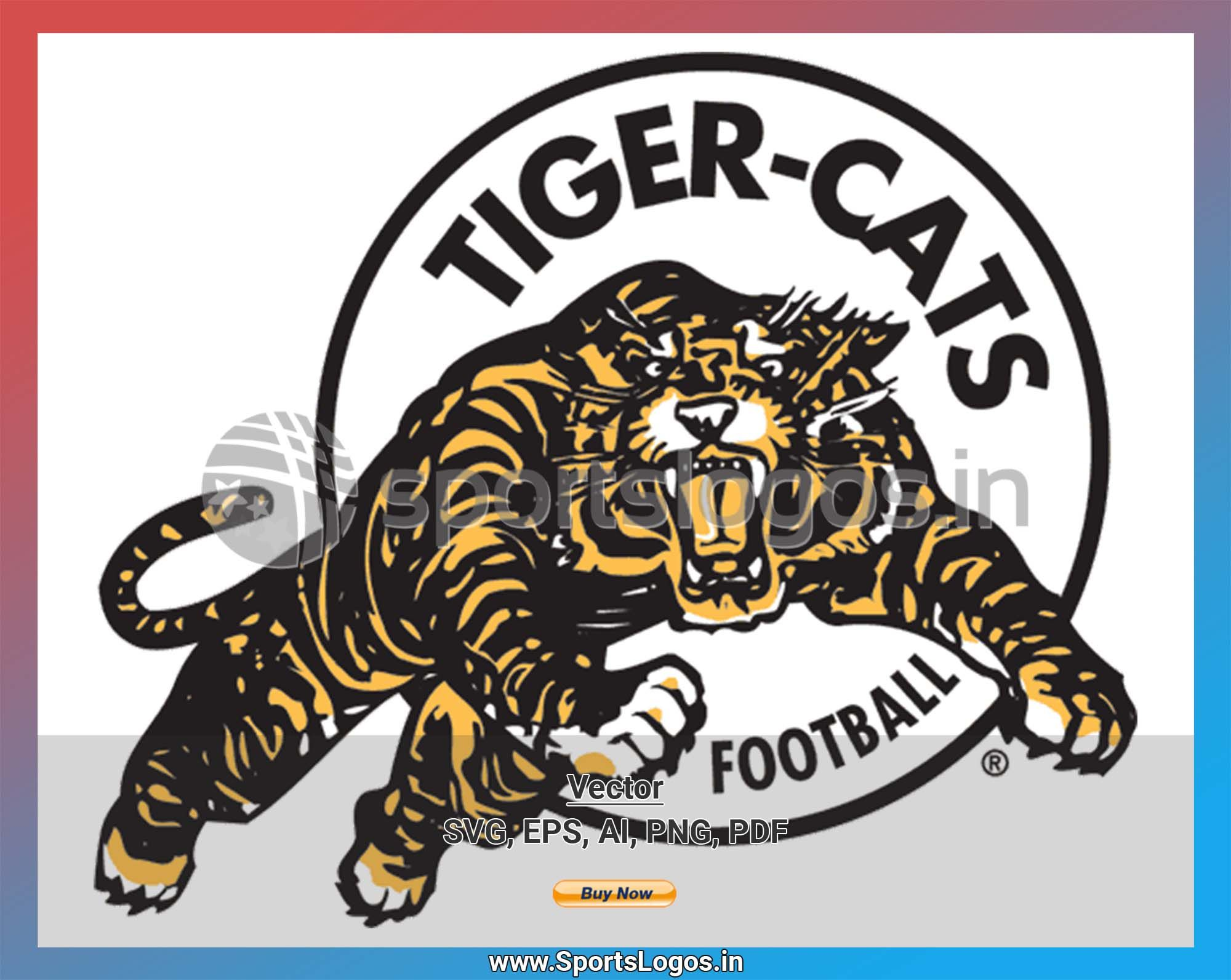 Hamilton Tiger Cats Football Sports Vector Svg Logo In 5 Formats Spln001733 Sports Logos Embroidery Vector For Nfl Nba Nhl Mlb Milb And More Canadian Football League Canadian Football Cat Logo