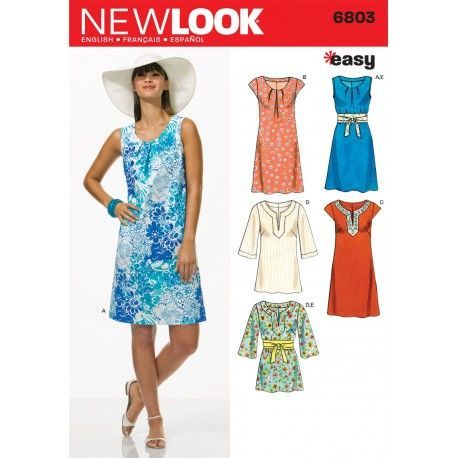 4f31ddd5f0d Snitmønster til kjole og tunika snitmønster NEW LOOK easy, simplicity