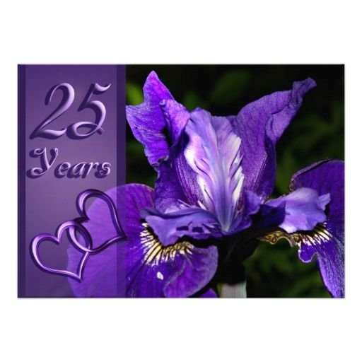 Purple iris 25th wedding anniversary invitation online after you purple iris 25th wedding anniversary invitation stopboris Choice Image
