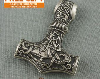 Thors Hammer Mjollnir Mjolnir Mjölnir Wikinger Schmuck