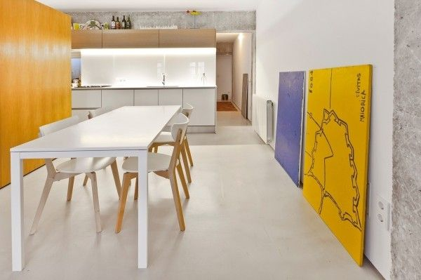 cozinha mesa jantar retangular branca