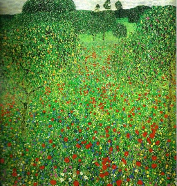 Gustav Klimt With Landscape Painting A Marvelous Landscape Painting In Modernism Style By Gustav Klimt Gustav Klimt Gustav Klimt Landscape Paintings Klimt