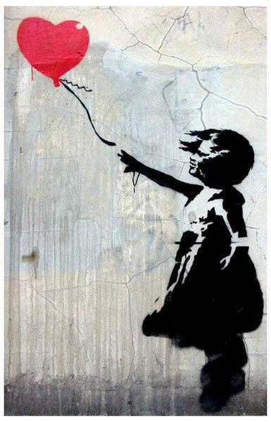 "Banksy Better Out Than In 24/""x36/"" Canvas Print Urban Graffiti"