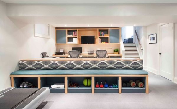 Modern Cabinets To Tuck Away Your Gym Equipment Make A Cover/cabinet To  Cover The