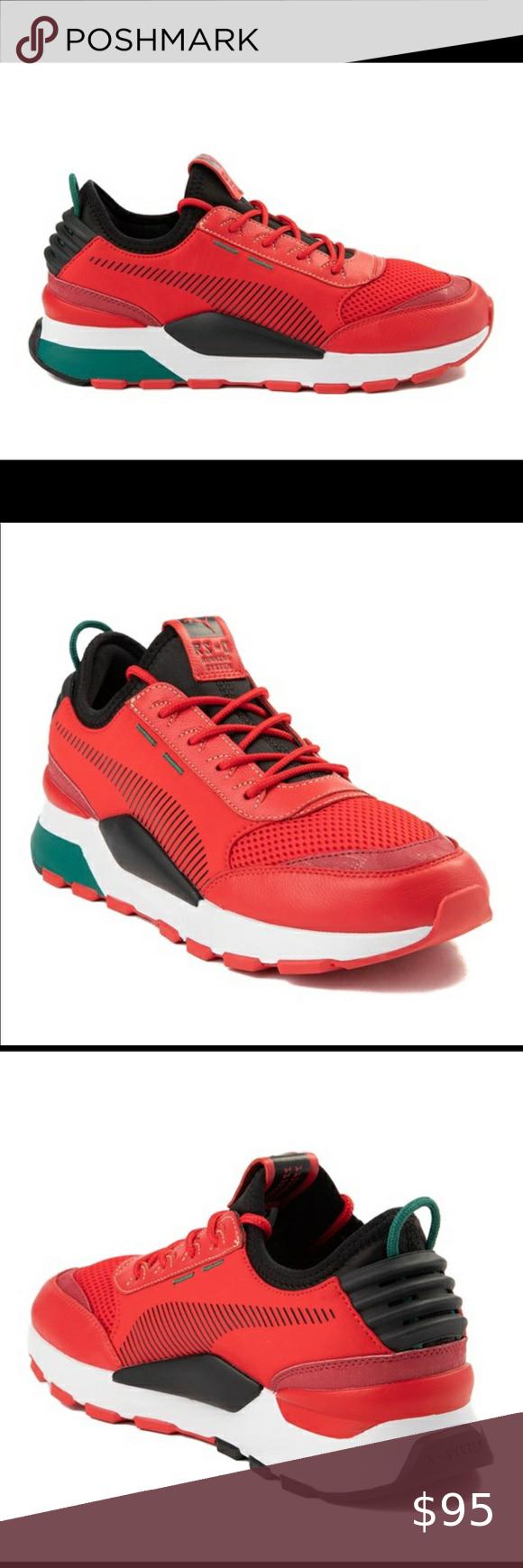 Mens Puma Athletic Shoe Sneaker Red