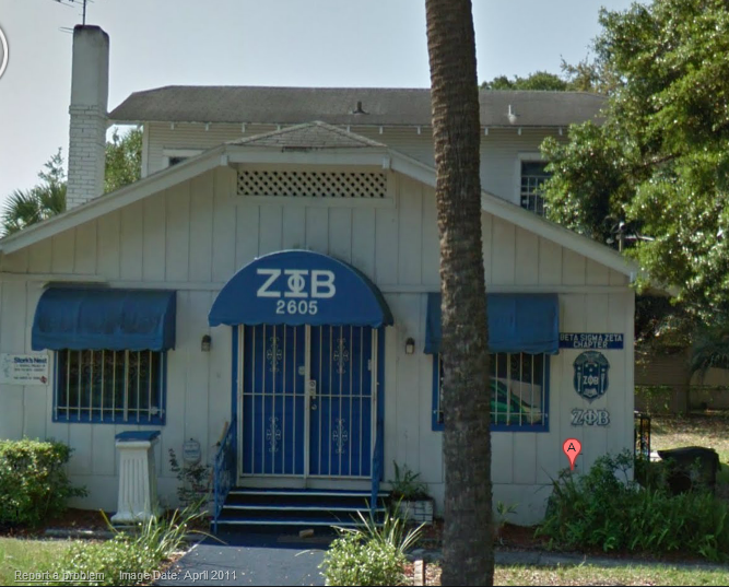 39beceec Zeta House located at 2605 E. 21st Ave in Tampa, FL. Maintained by the Beta  Sigma Zeta Chapter of Zeta Phi Beta Sorority