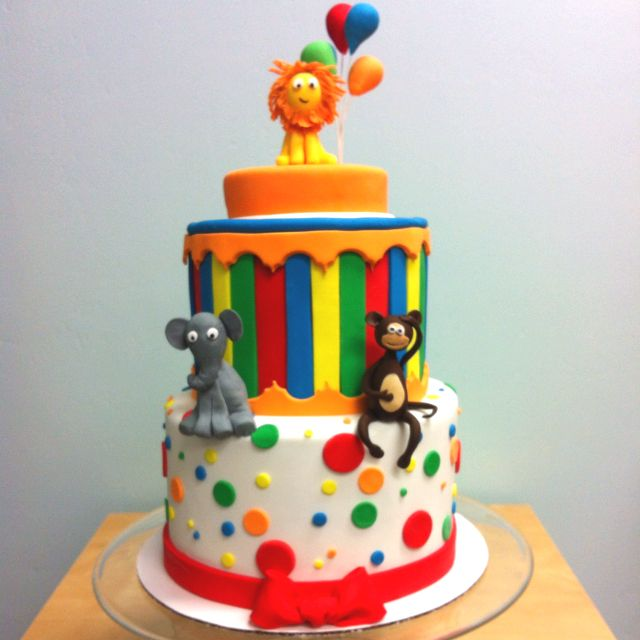 Carnival Cake  www.thefrostedcakeshop.com
