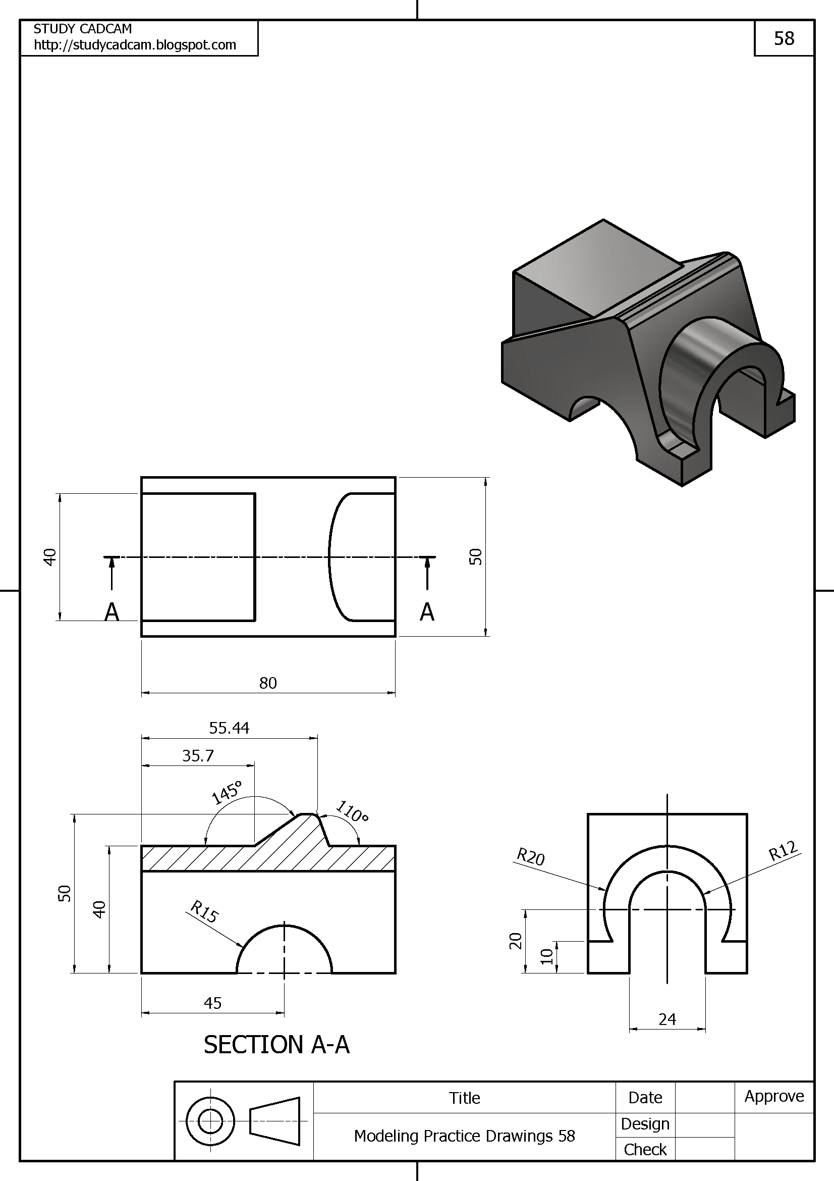 Pin by Erkan Kantar on Autocad   Orthographic drawing, Cad