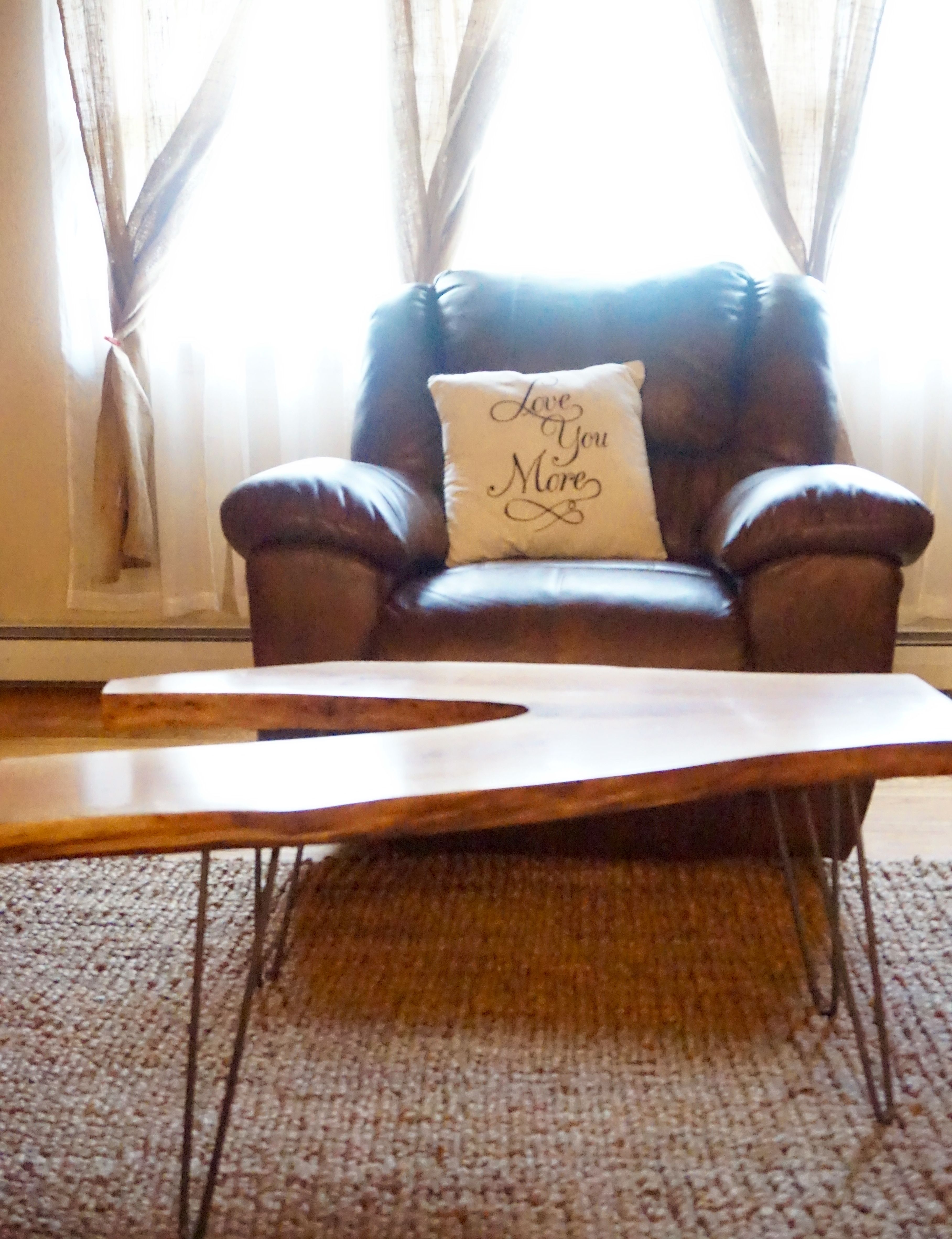 Live edge coffee table kiln dried hardwood slabs and furniture from cds hardwoods on etsy