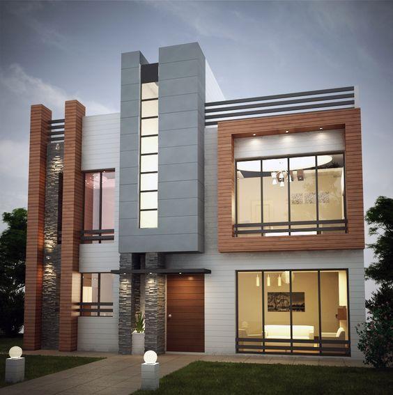 Modern Residential Exterior By Ar Sagar Morkhade: Jasa Kontraktor Rumah Surabaya