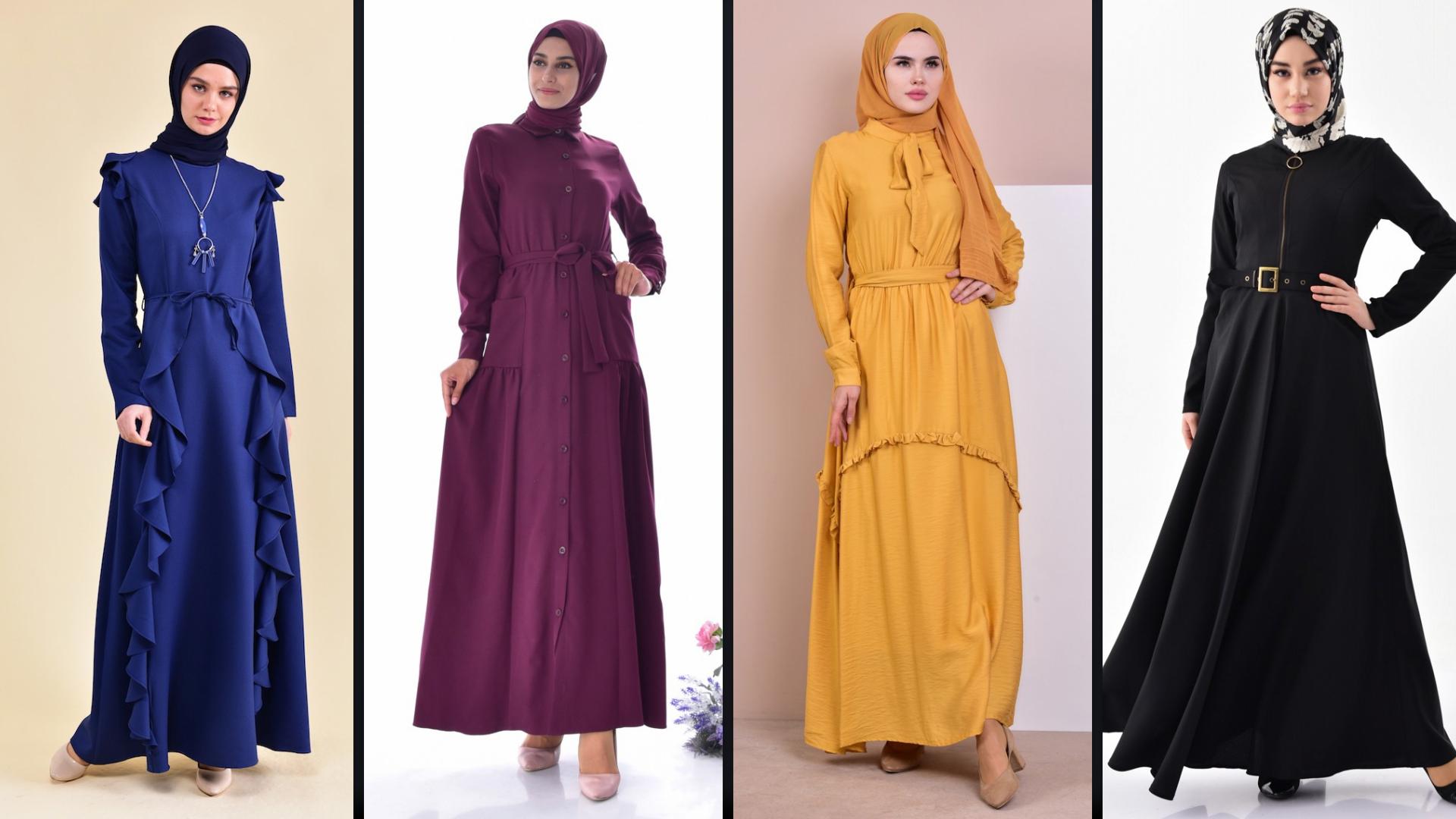 Burun Tesettur Elbise Modelleri 2 4 Sefamerve 2019 Elbise Modelleri Elbise Giyim