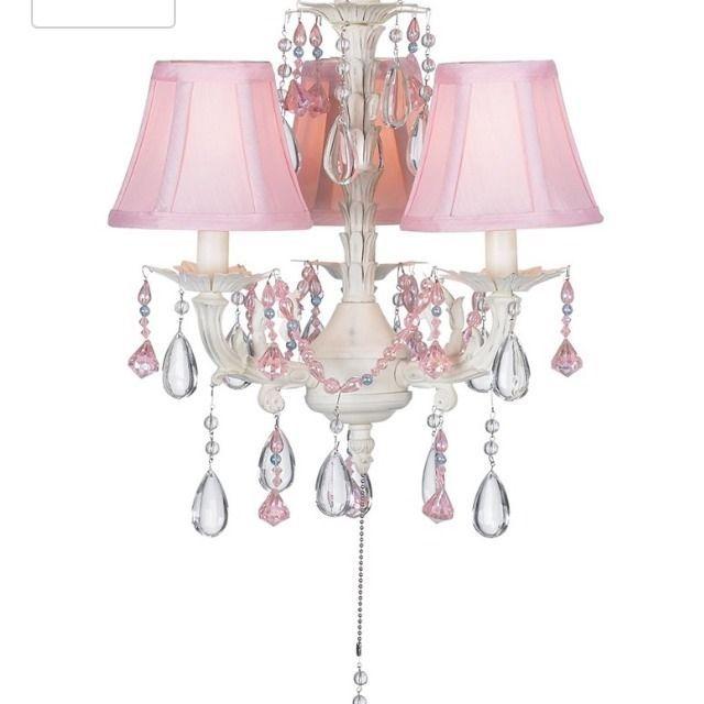 Princess Ceiling Fan Fixture Bell Shade Light Chandelier Girls Kids Room New