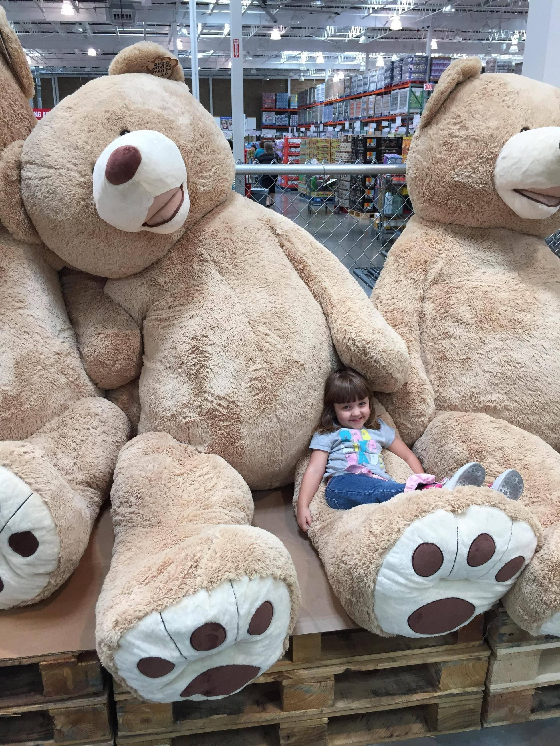 That's almost 8 FEET TALL!!! baby ideas Costco bear