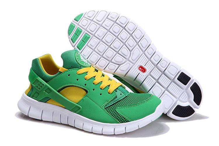 339f81b2172 Nike Huarache Free 2012 Runs Court Green White Tour Yellow