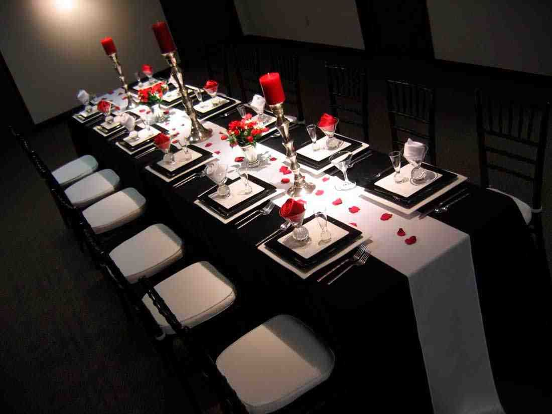 Wedding decorations red  Black And White Wedding Ideas On A Budget  Birthday Dinner