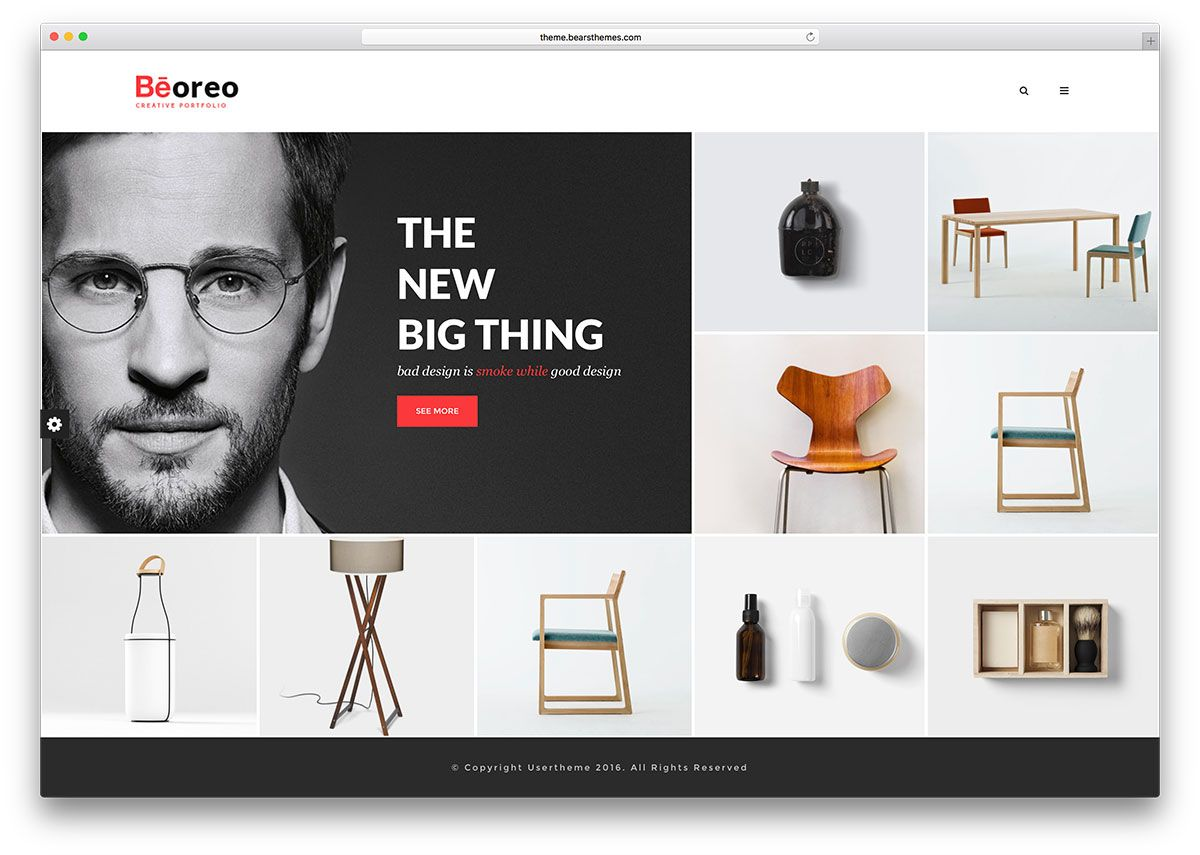 beoreo-minimal-portfolio-wp-website-template | Web | Pinterest ...