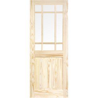 Kensington 9 Light Clear Pine Glazed Internal Door